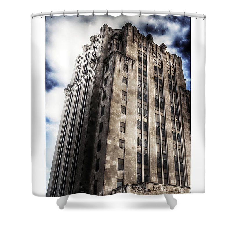 Tall Building Shower Curtain featuring the photograph Old Macomb Tower by Donald Yenson