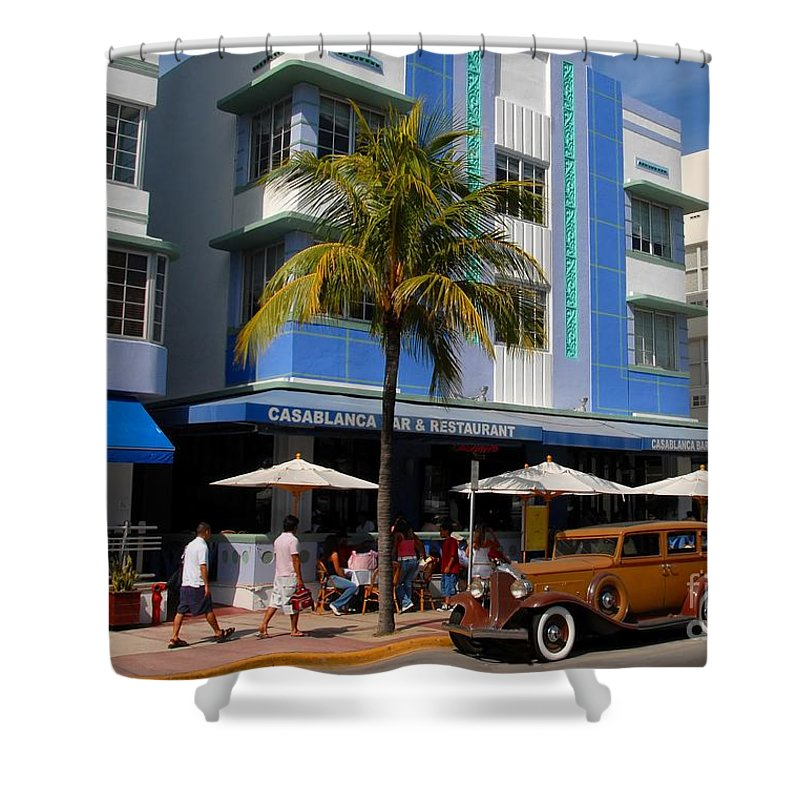 Miami Florida Shower Curtain featuring the photograph Old Miami by David Lee Thompson