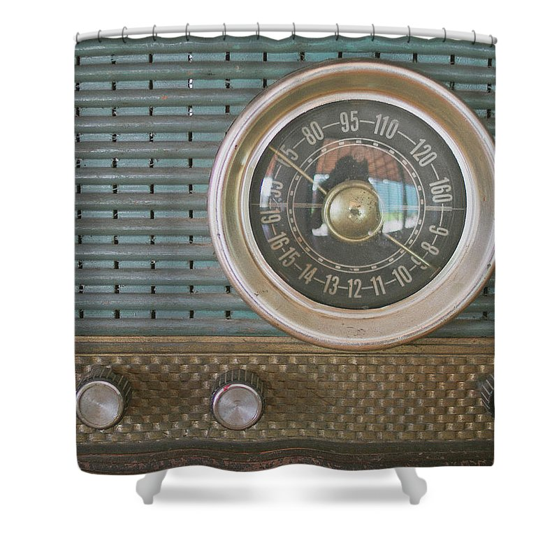 Music Shower Curtain featuring the photograph Old Radio by Carmen Moreno Photography