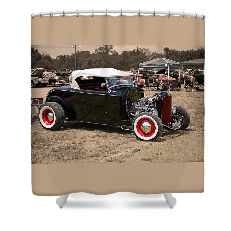Old School Hot Rod Shower Curtain for Sale by Joe Fernandez