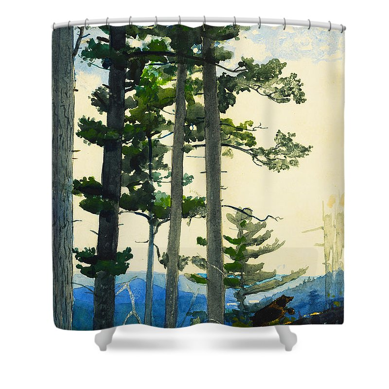 Old Settlers Bears Shower Curtain Featuring The Digital Art By Winslow Homer