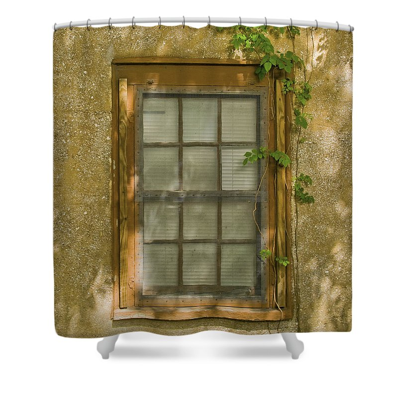 Window Shower Curtain featuring the photograph Old St Augustine Window by Rich Franco