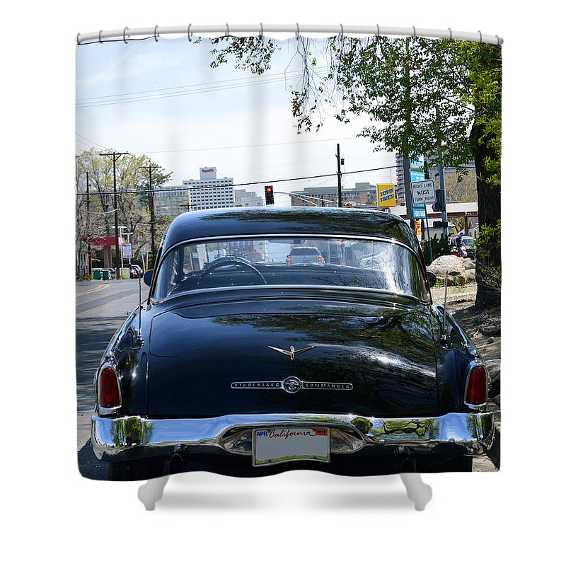 Car Shower Curtain featuring the photograph Old Studebaker by Brent Dolliver