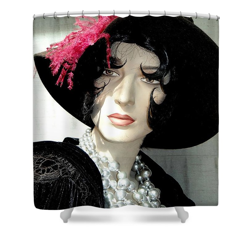 Mannequins Shower Curtain featuring the photograph Old Time Elegance by Ed Weidman