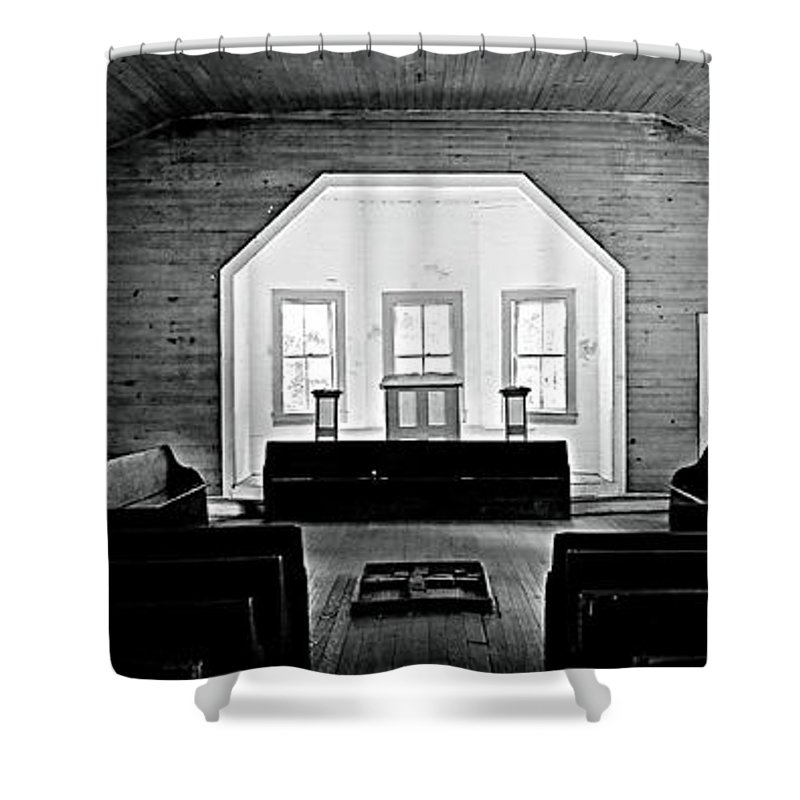 Cades Cove Shower Curtain featuring the photograph Old Time Religion by Stephen Stookey