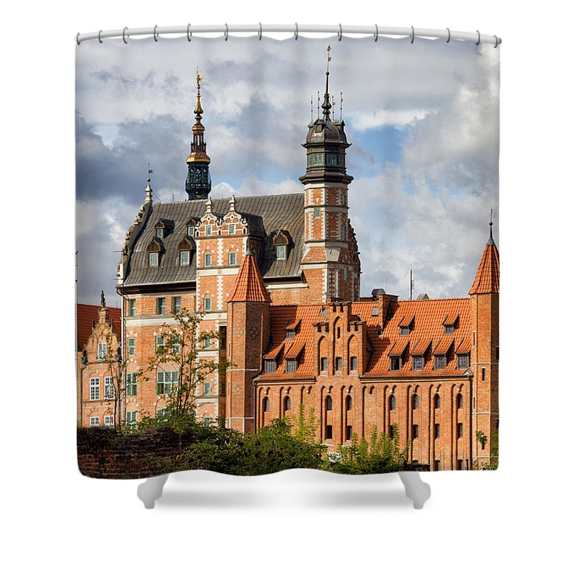 Gdansk Shower Curtain featuring the photograph Old Town Of Gdansk In Poland by Artur Bogacki