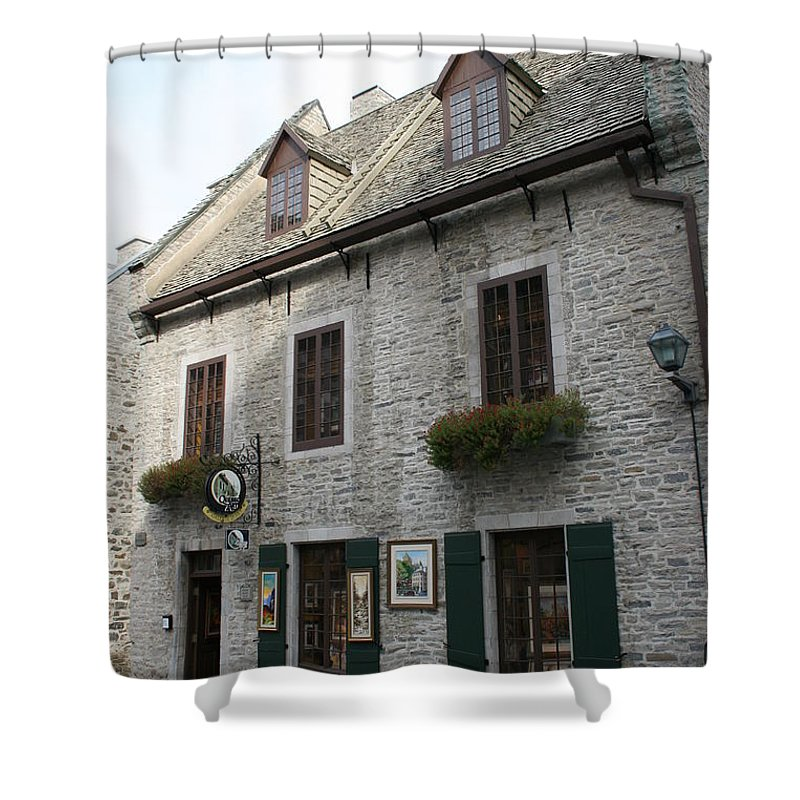 Old Town Shower Curtain featuring the photograph Old Town Quebec Canada by Christiane Schulze Art And Photography