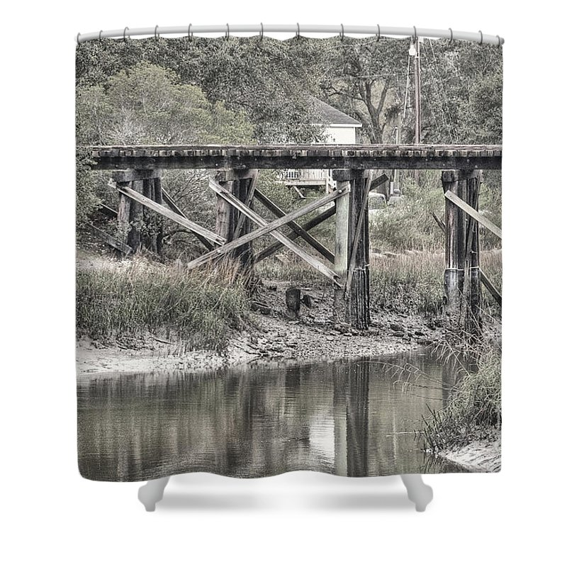 Hansen Shower Curtain featuring the photograph Old Train Trestle by Scott Hansen