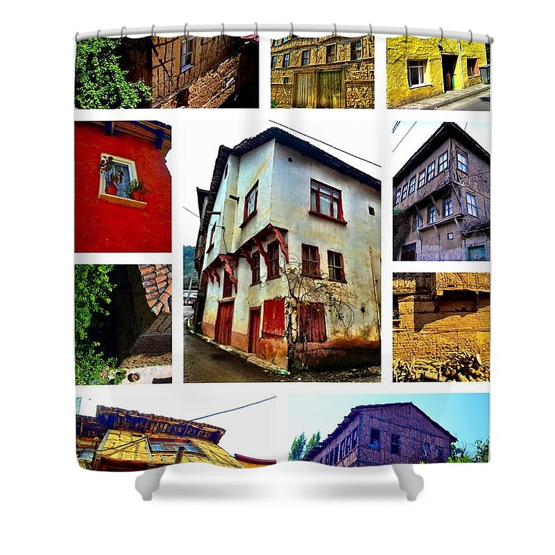Old House Shower Curtain featuring the photograph Old Turkish Houses by Zafer Gurel