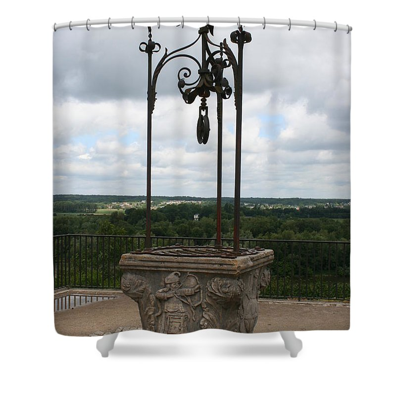 Well Shower Curtain featuring the photograph Old Well Chateau Chaumont by Christiane Schulze Art And Photography
