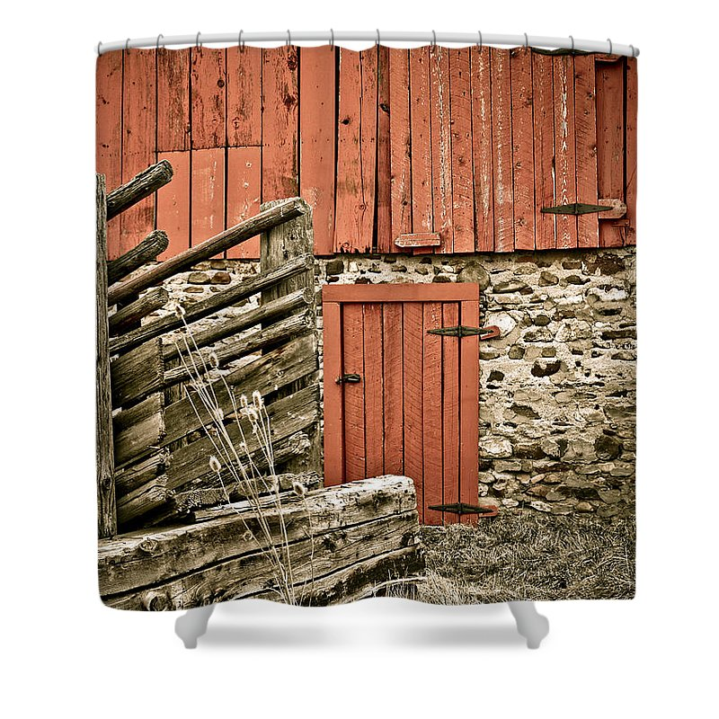 Old Shower Curtain featuring the photograph Old Wood by Marilyn Hunt