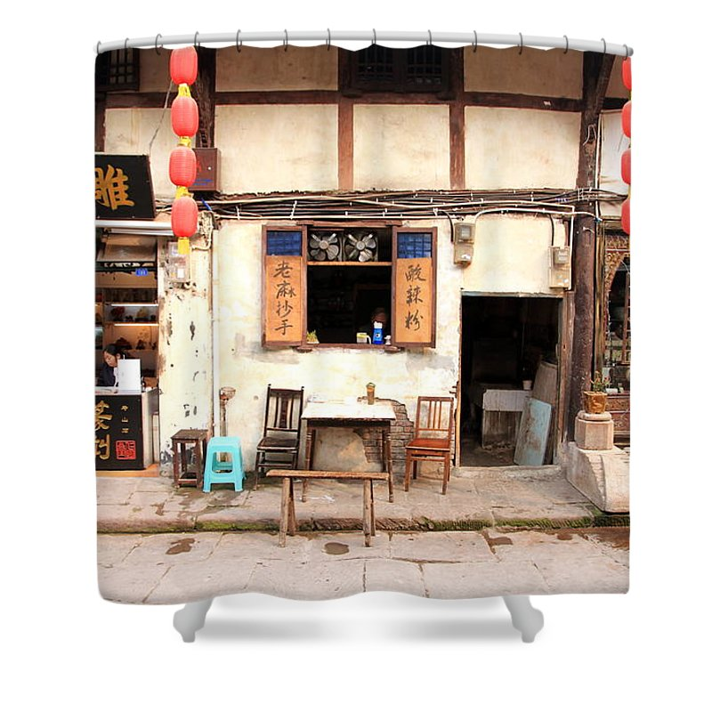 Old Shower Curtain featuring the photograph Old Chongqing by Valentino Visentini