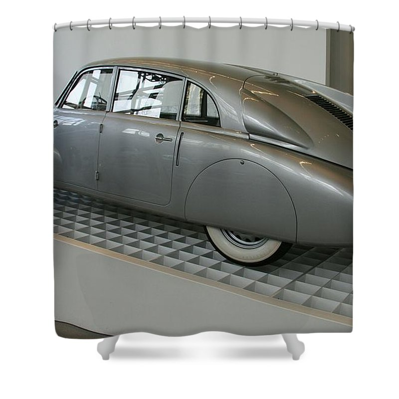 Oldtimer Shower Curtain featuring the photograph Oldtimer Tatra T87 by Christiane Schulze Art And Photography