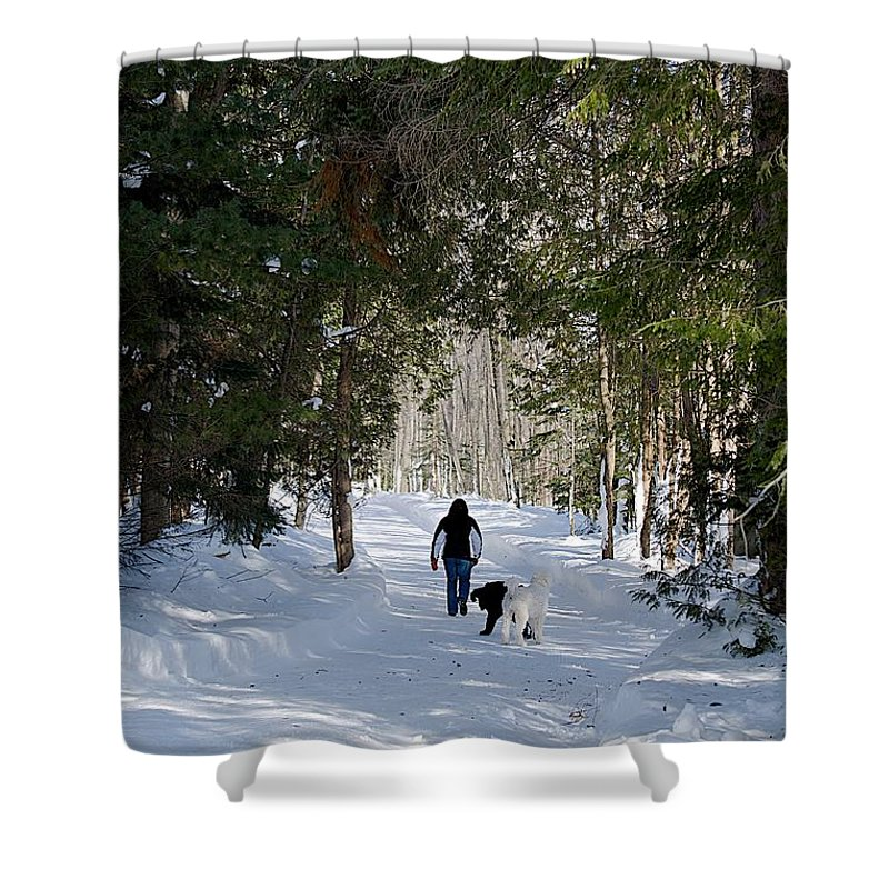 Dogs Lane Shower Curtain featuring the photograph Ollie by Joseph Yarbrough