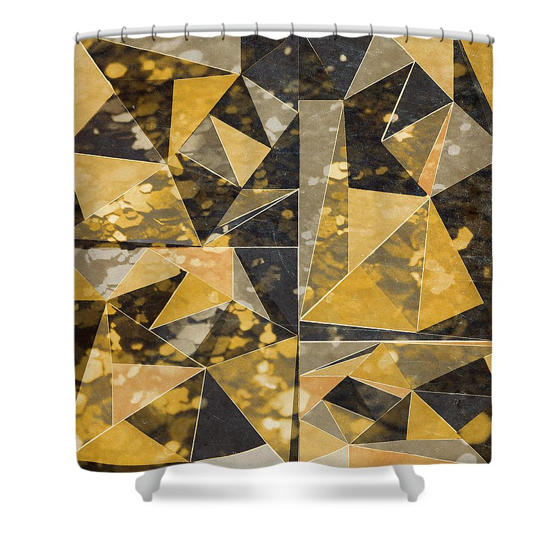 Omg Shower Curtain featuring the digital art Omg Modern Triangles II by south Social Studio