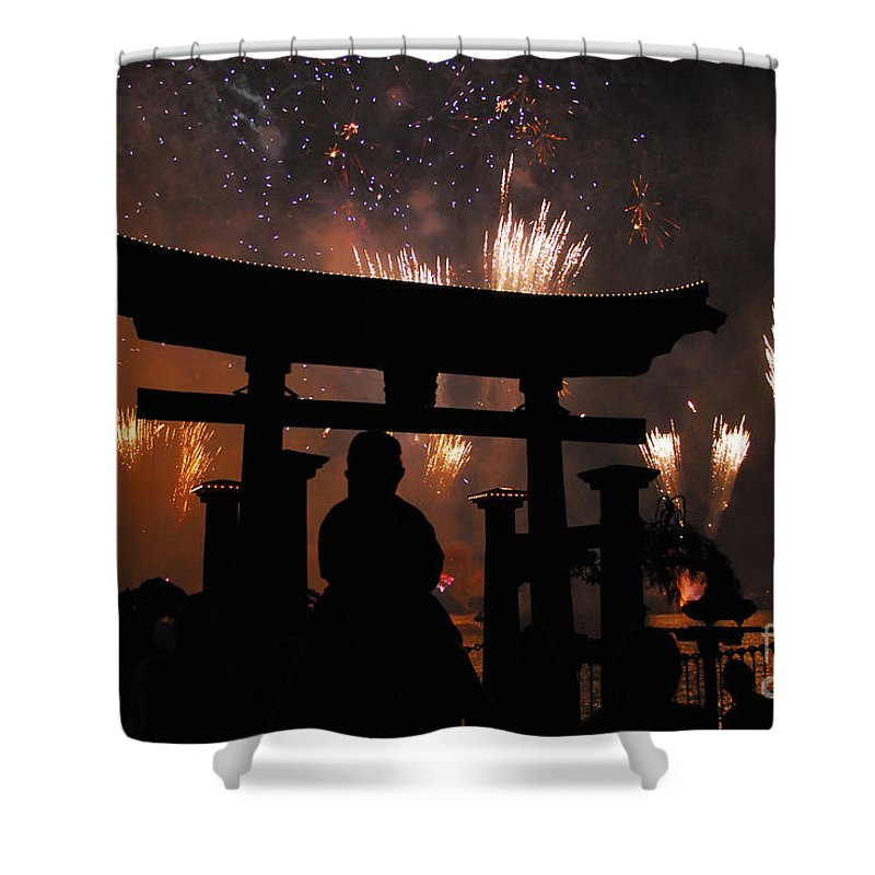 Father Shower Curtain featuring the photograph On Dad's Shoulders by David Lee Thompson