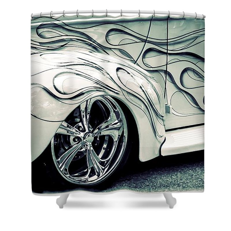 Car Shower Curtain featuring the photograph On Fire by Perry Webster