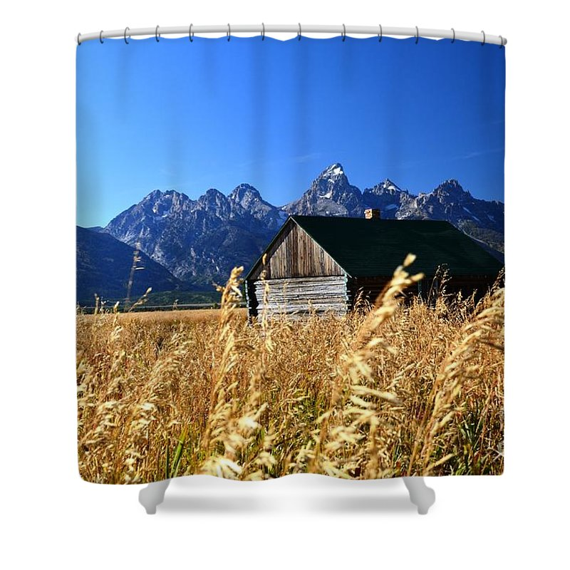 Barn Shower Curtain featuring the photograph On The Flats by Deanna Cagle