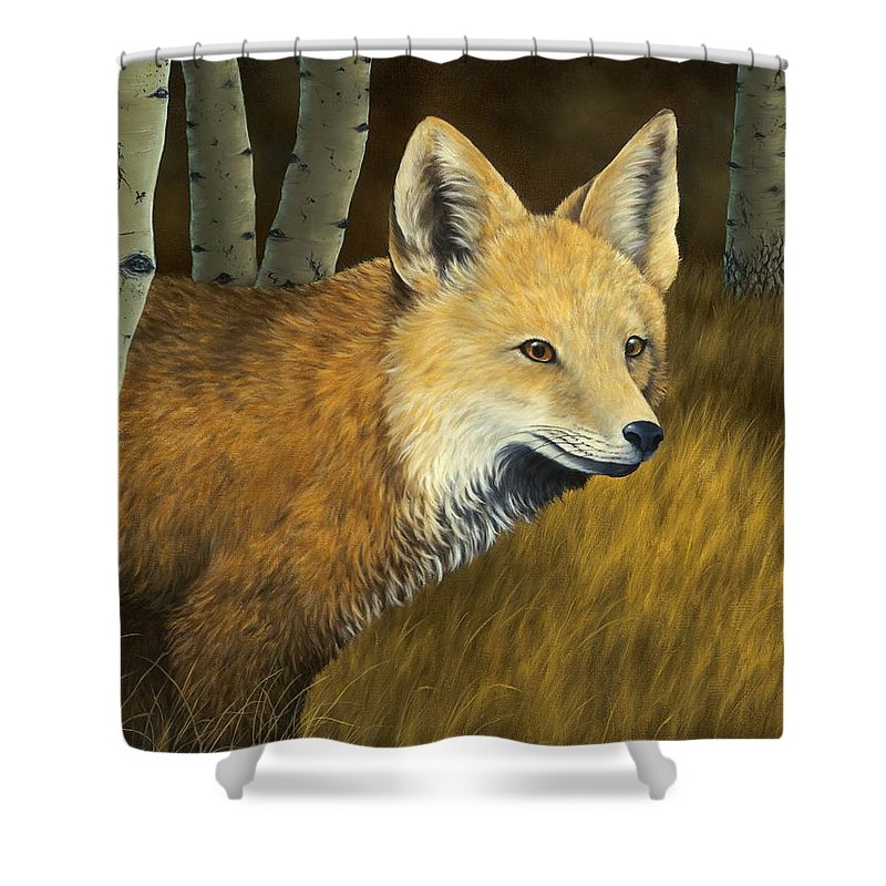 Animals Shower Curtain featuring the painting On The Hunt by Rick Bainbridge