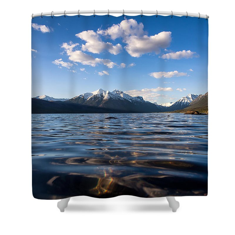 Lake Shower Curtain featuring the photograph On The Lake by Aaron Aldrich