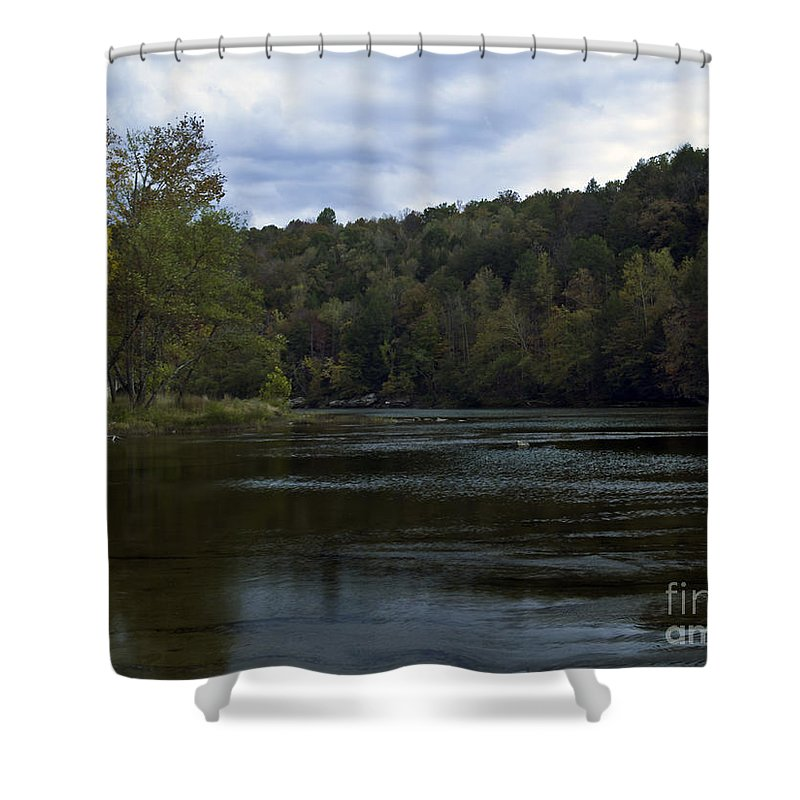 Rural Shower Curtain featuring the photograph On The River Three by Ken Frischkorn