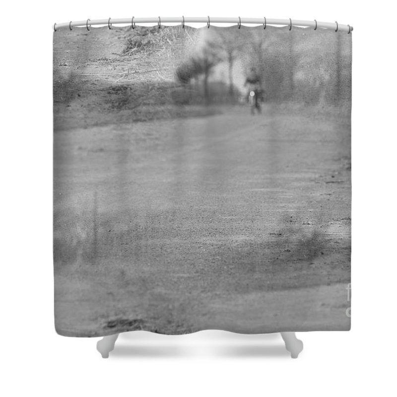 Trees Shower Curtain featuring the relief On The Way by Four Hands Art