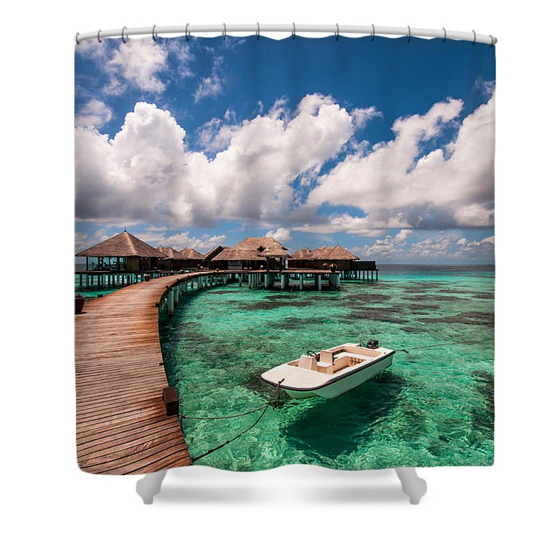 Maldives Shower Curtain featuring the photograph One Day At Heaven by Jenny Rainbow