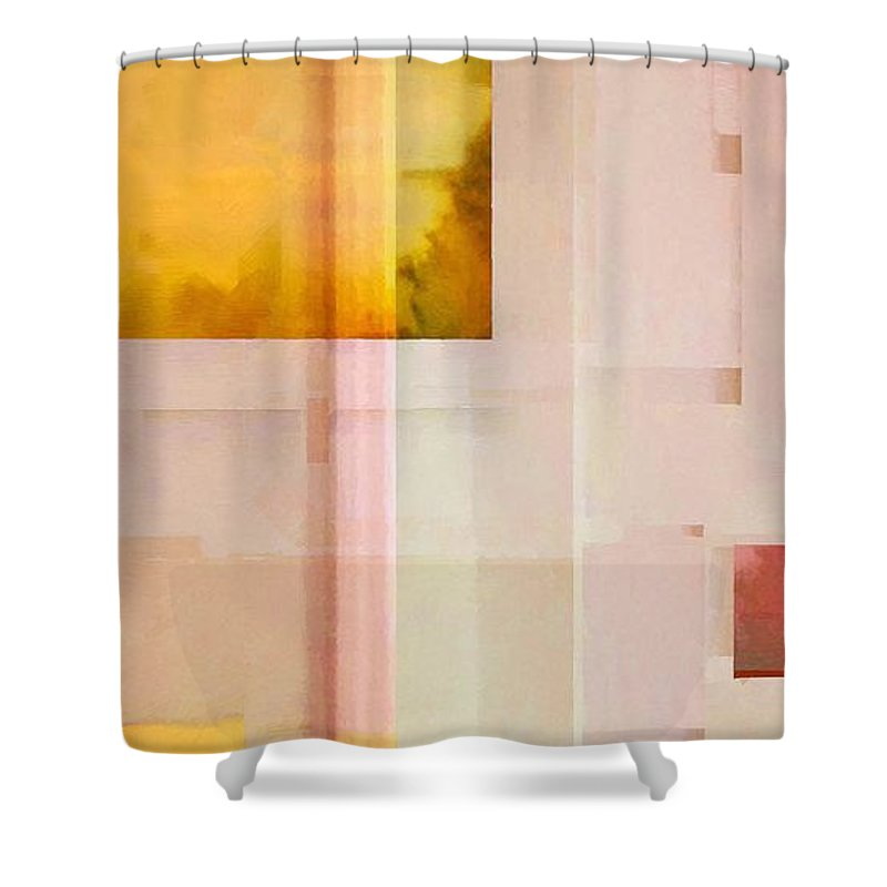 Abstract Shower Curtain featuring the painting One Martini by RC DeWinter