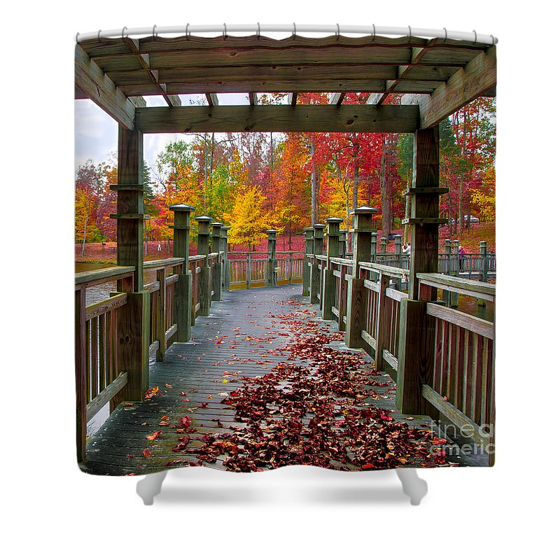 Stroll Shower Curtain featuring the photograph One More Stroll by Scott Hervieux