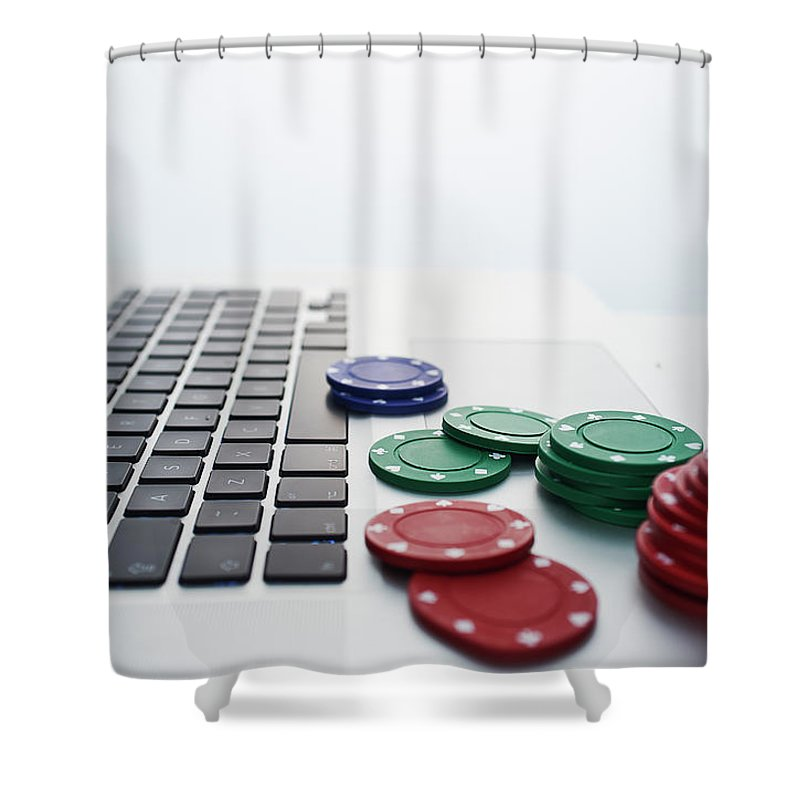 Internet Shower Curtain featuring the photograph Online Gambling by John Lamb