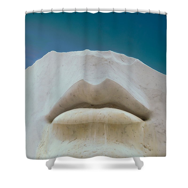 Statue Shower Curtain featuring the photograph Open Mind by Wayne King
