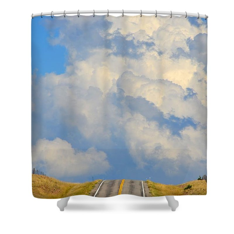 Abstract Shower Curtain featuring the photograph Open Road by Lauren Leigh Hunter Fine Art Photography