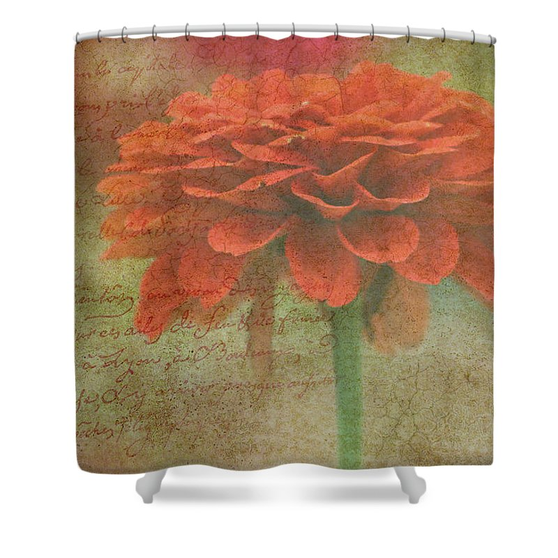 Orange Shower Curtain featuring the photograph Orange Floral Fantasy by Kay Novy