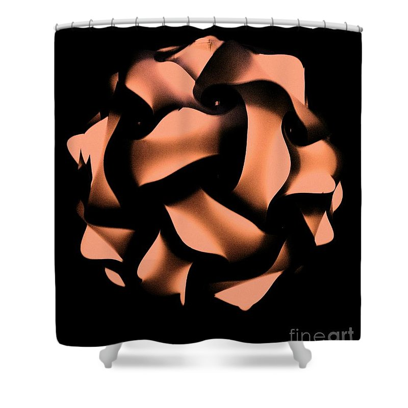 Shower Curtain featuring the photograph Orange Honeycomb by Kelly Awad