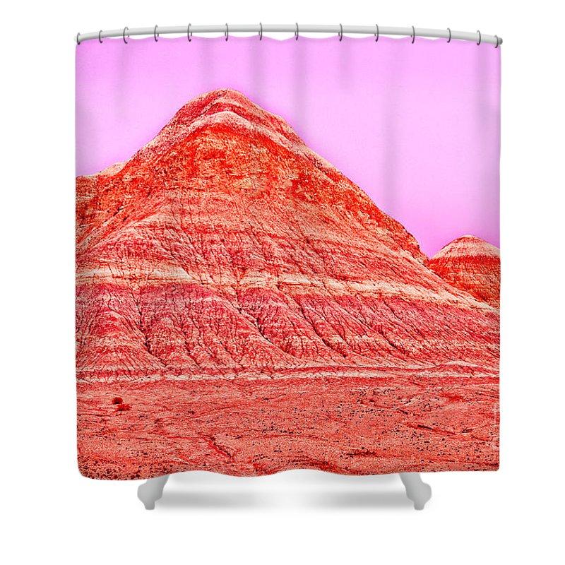 Orange Shower Curtain featuring the photograph Orange Slice Mountain by Bob and Nadine Johnston