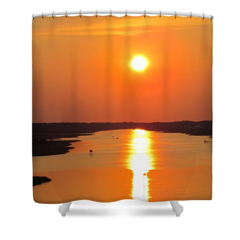 Orange Shower Curtain featuring the photograph Orange Sunset by Cynthia Guinn