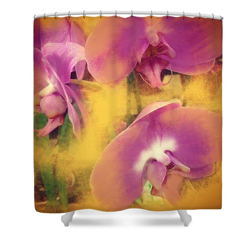 Ipad Art Shower Curtain featuring the photograph Orchid Dream by Go Inspire Beauty