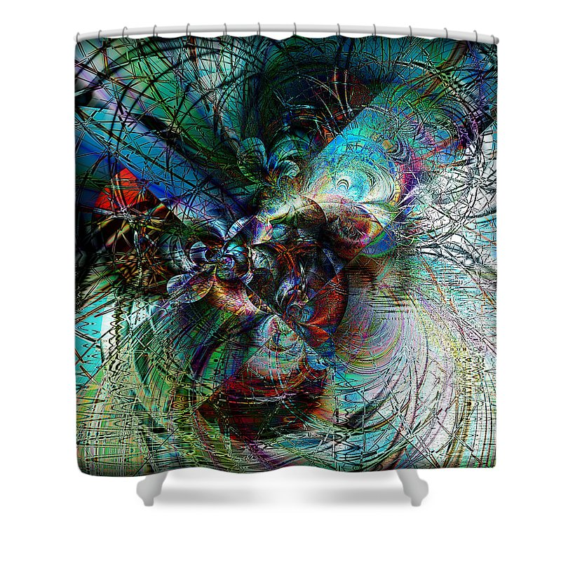Orchid Shower Curtain featuring the digital art Orchid Dreams by Kiki Art