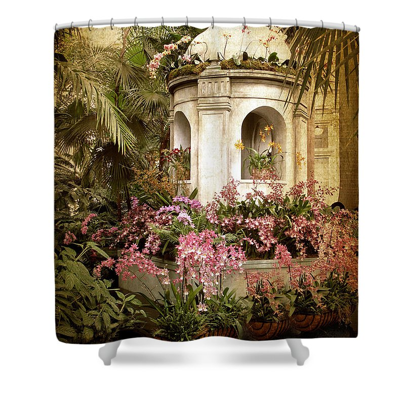 Flowers Shower Curtain featuring the photograph Orchid Exhibition by Jessica Jenney