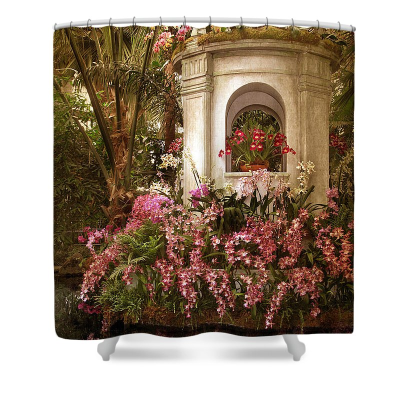 Flowers Shower Curtain featuring the photograph Orchid Show by Jessica Jenney