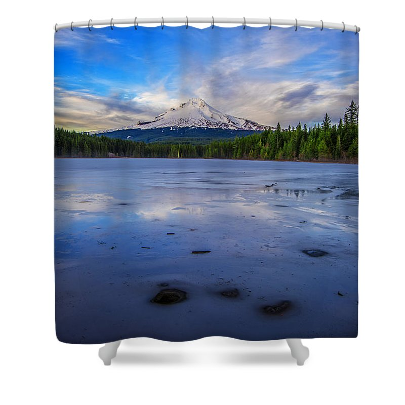 Mount Hood Shower Curtain featuring the photograph Oregon January by Rick Berk