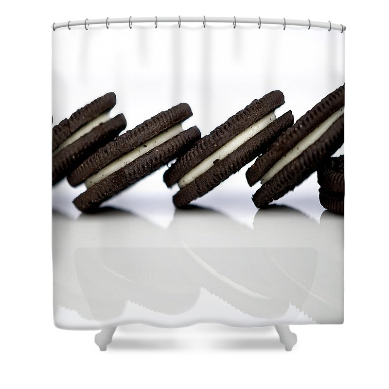 Oreo Cookies Shower Curtain featuring the photograph Oreo Cookies by Juli Scalzi