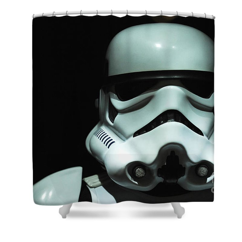 Stormtrooper Shower Curtain Featuring The Photograph Original By Micah May