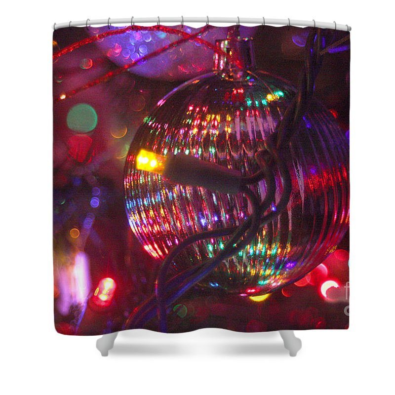 Merry Christmas Shower Curtain featuring the photograph Ornaments-2038 by Gary Gingrich Galleries