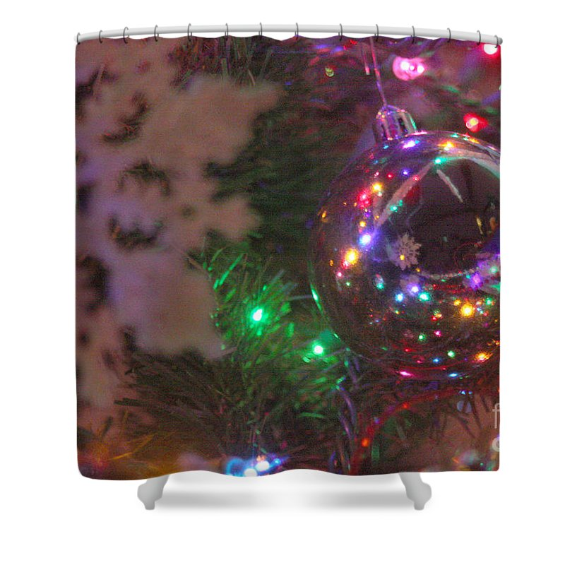 Merry Christmas Shower Curtain featuring the photograph Ornaments-2096 by Gary Gingrich Galleries