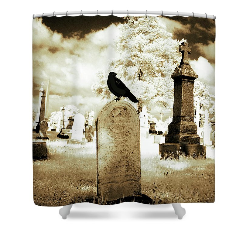 Infrared Shower Curtain featuring the photograph Otherworldly Spectrum by Gothicrow Images