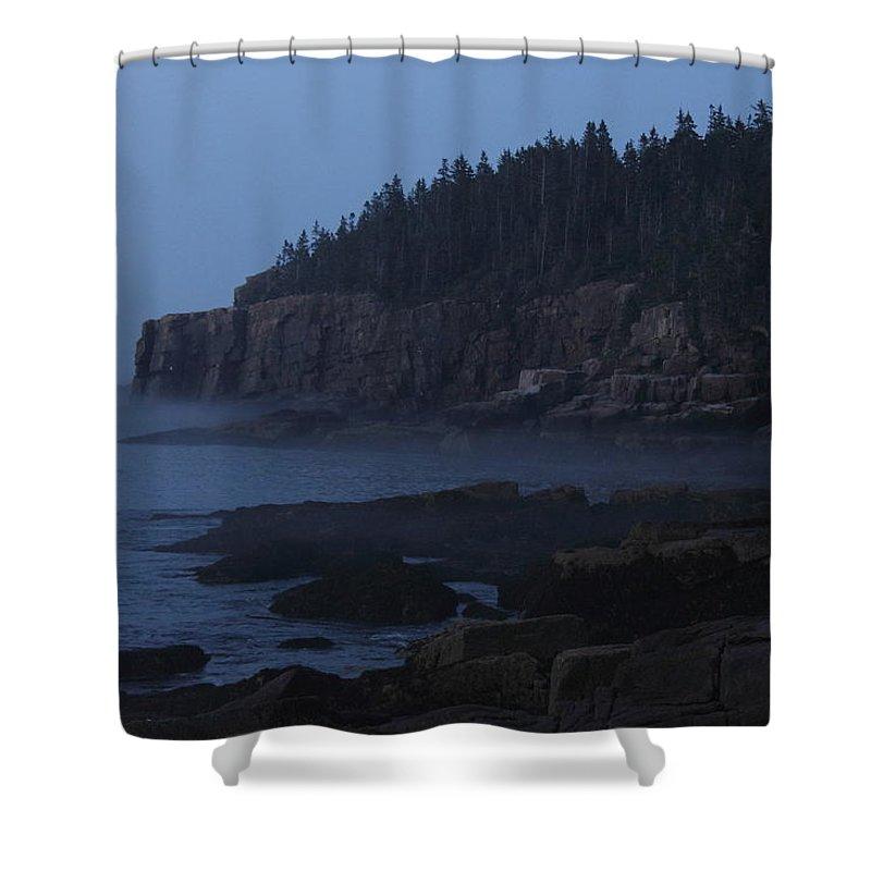 Otter Cliffs Shower Curtain featuring the photograph Otter Cliffs 3 by Jeff Heimlich