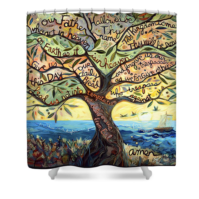 Lords Prayer Shower Curtains