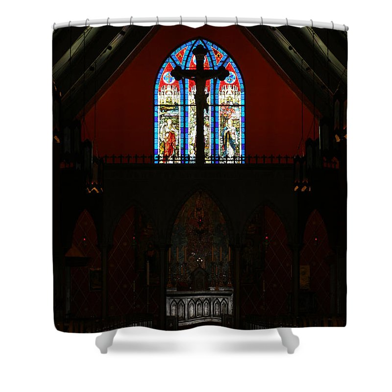 Altar Shower Curtain featuring the photograph Our Lady Of The Atonement by Ed Gleichman