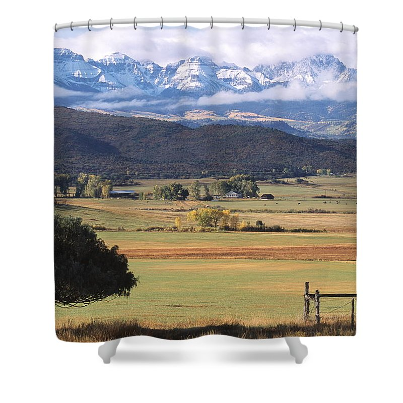 Colorado Shower Curtain featuring the photograph Ouray County by Eric Glaser